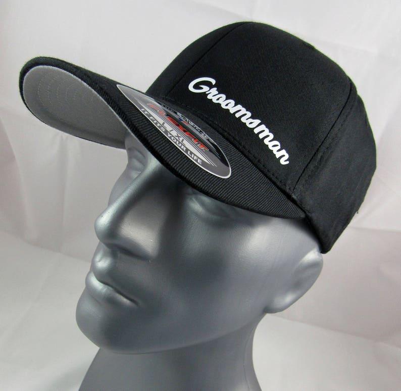4629cdc8143 Groomsman Flex-fit custom fitted hat wedding cap bachelor
