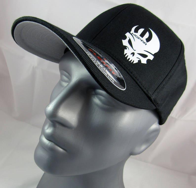 ca9c46446b751 Mopar skull Flex-Fit custom fitted hat skull cap racing