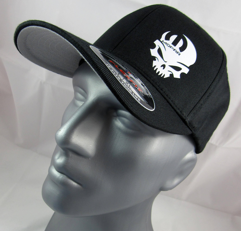 Mopar Skull Flex-Fit Custom Fitted Hat Skull Cap Racing