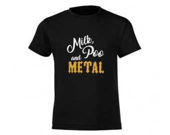 Milk, Poo & Metal - Mini T-shirt