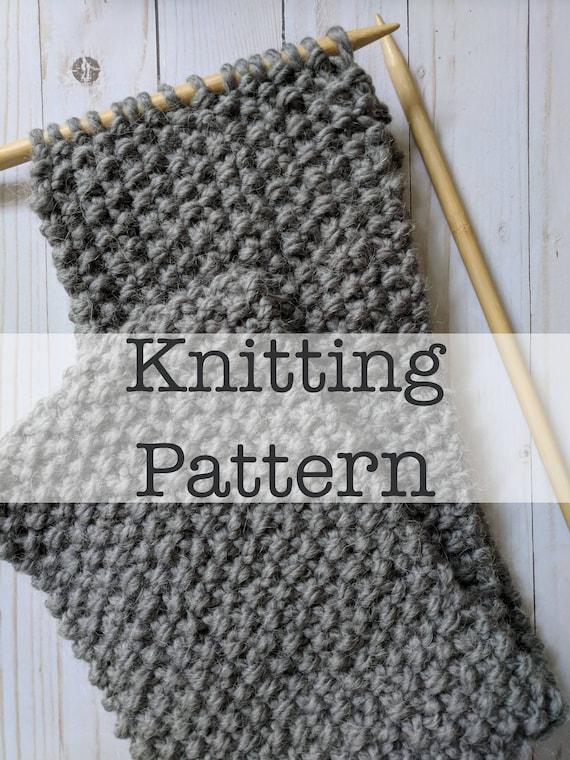 knitting pattern seed stitch scarf knitting pattern etsy