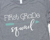 First Grade Squad SVG, Kids, School Quotes, First Day of School, Teacher, Photos, Cutting File Design, SVG Clip art, DIY, dxf png, Cut File