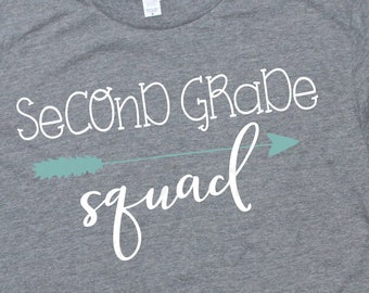 Fourth Grade Squad Svg Kids School Quotes First Day Of Etsy