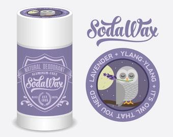 """SodaWax™ Natural Deodorant, Lavender + Ylang-Ylang """"Night Owl"""" 15% OFF 3+ Items & USA Free Shipping"""