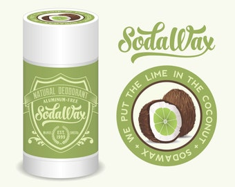 """SodaWax™ Natural Deodorant, Lime + Coconut """"Lime in the Coconut"""" 15% OFF 3+ Items & USA Free Shipping"""