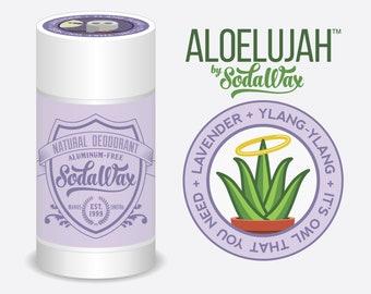 "Aloelujah™ Natural Deodorant for Sensitive Beings, Lavender + Ylang-Ylang ""Night Owl"" 15% OFF 3+ Items & USA Free Shipping"