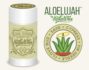 """Aloelujah™ Natural Deodorant for Sensitive Beings, Cypress + Sage + Clove + Fir Needle """"Logger's Friend"""" 15% OFF 3+ Items & Free Shipping"""