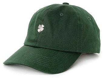 de84023e202 Green Lucky Dad Hat Shamrock Baseball Cap
