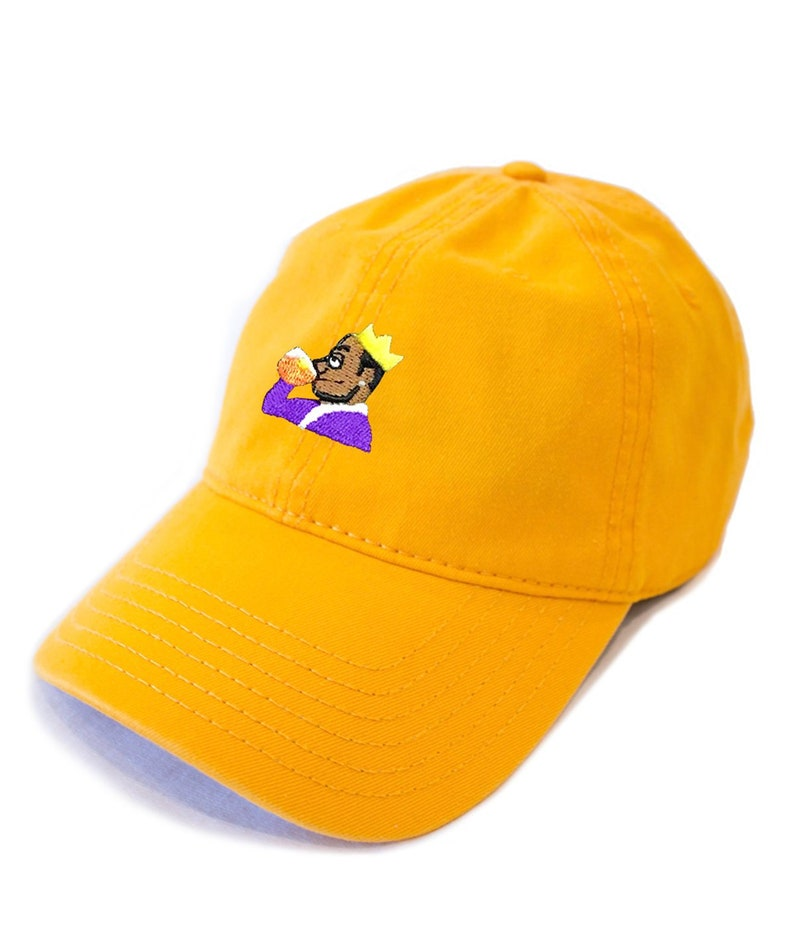 timeless design 505a1 6f0d7 KING JAMES LEBRON, Lakers Cap, Purple and Gold, Lebron James Dad Hat