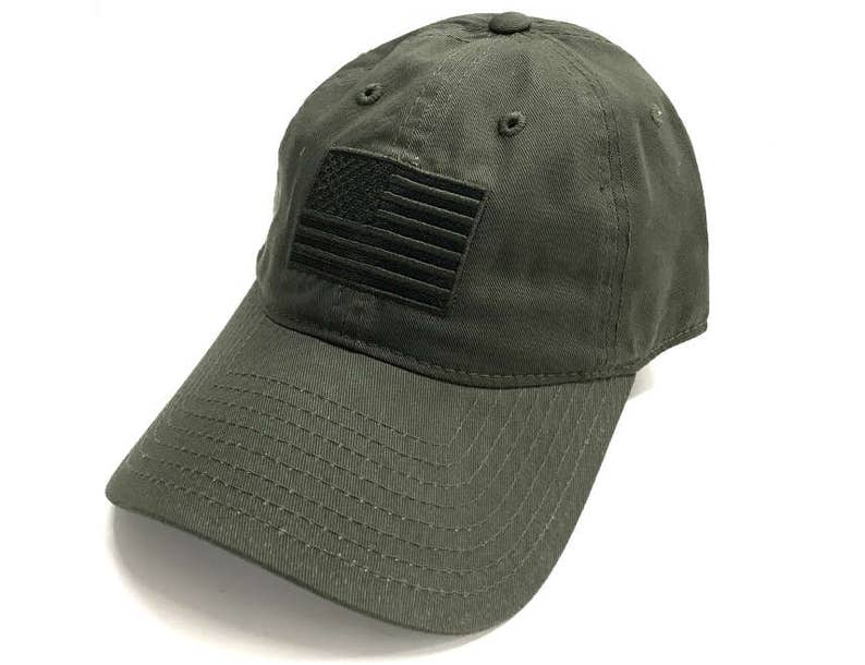 Army Green USA American Flag Patch United States America Polo Baseball Cap  Dad Hat