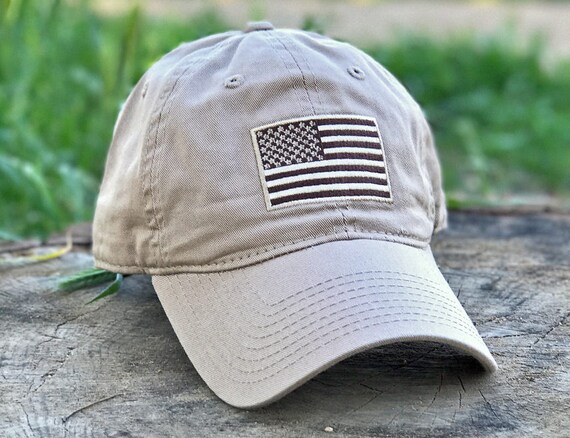 f7abbc5fe92 Patriot Classic Army Desert Khaki USA American Flag Patriotic