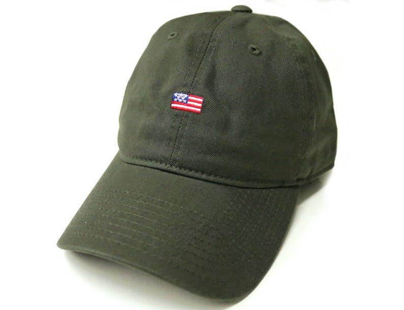88fe183ed946e Army Green USA American Small Mini Flag Embroidery United