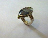 wide silver ring hammered...