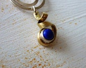 silver necklace gold pend...
