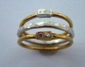 18ct gold silber diamante...