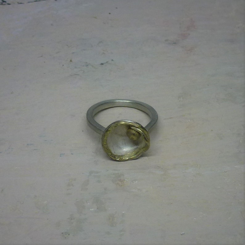 925 silver ring FLORES. image 0