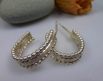 recycled silver hoop earrings.
