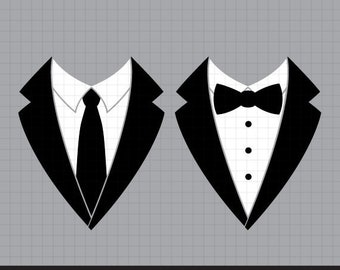 Tuxedo svg, Tuxedo Shirt, Men's jackets svg, Wedding suits svg, bow tie svg, necktie svg, Wedding Svg, Cut files For Cricut & Silhouette