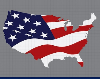 America map svg, 4th of July svg, fourth of july svg, American flag svg, Merica svg, United States svg, for CriCut and Silhouette