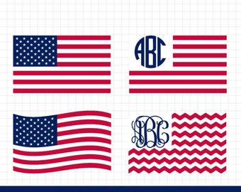 USA flag svg, 4th of July svg, American flag svg, Merica svg, Patriotic Monogram, United States svg, for CriCut and Silhouette