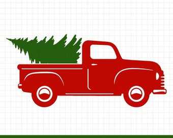 Christmas Tree Truck Svg Free.Free Svg Png Link Christmas Tree Truck Cut Files Svg Etsy