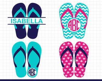 8831ac102bd1 Flip flop SVG Summer Flip flops Monogram Frames Svg Beach Flip flop Svg  Summer Svg for Silhouette CriCut Files Svg Dxf Eps Jpg Png