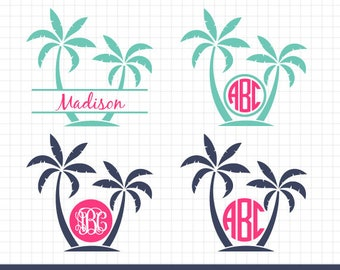 Beach monogram svg | Etsy