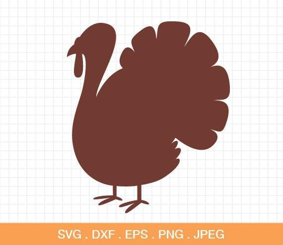 Turkey Svg Turkey Cut File Thanksgiving Cut File Turkey Etsy