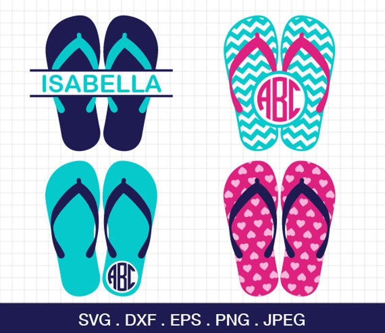 970335e61 Flip flop SVG Summer Flip flops Monogram Frames Svg Beach Flip