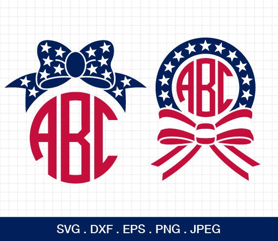 4th Of July Bow Svg 4th Of July Svg Fourth Of July Svg Etsy