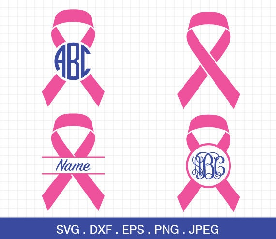 Cancer Awareness Ribbon Svg Cancer Awareness Svg Breast Etsy