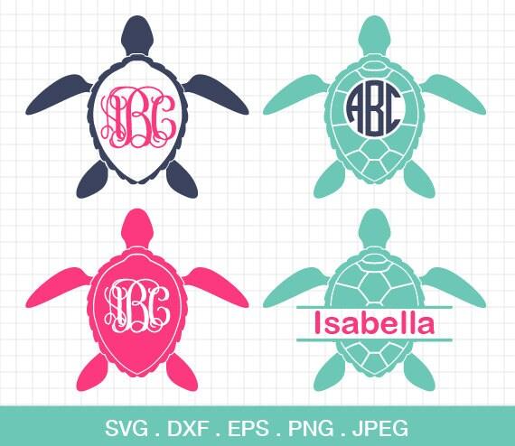 Download Sea Turtle SVG Sea Turtle Monogram frames SVG Sea Turtle ...
