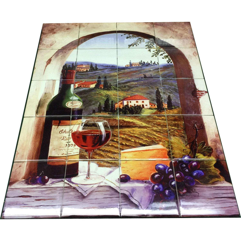 Hangable Tile Mural Kitchen Backsplash Kitchen Art Etsy