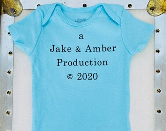 A Production 2021 Baby OnesiePersonalizedFREE SHIPPING
