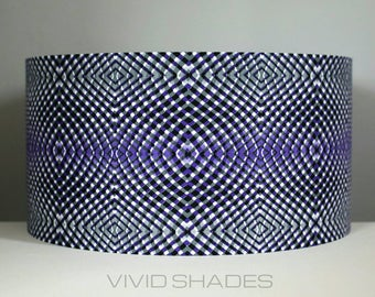 Funky lamp shade etsy geometric fabric pattern lampshade handmade by vivid shades modern retro lamp shade custom made funky light shade for ceiling or lamp base aloadofball Images
