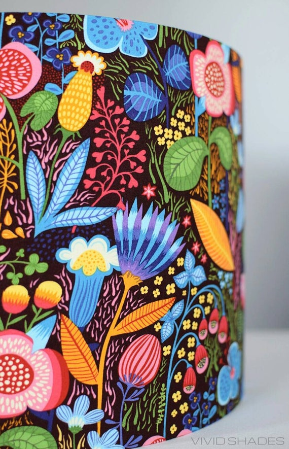 My Name Is Shade.Floral Lampshade 30cm Or 35cm Fabric Light Lamp Shade Etsy