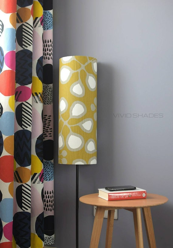 Tall Mustard Lampshade With Floor Lamp Option Funky Retro Etsy