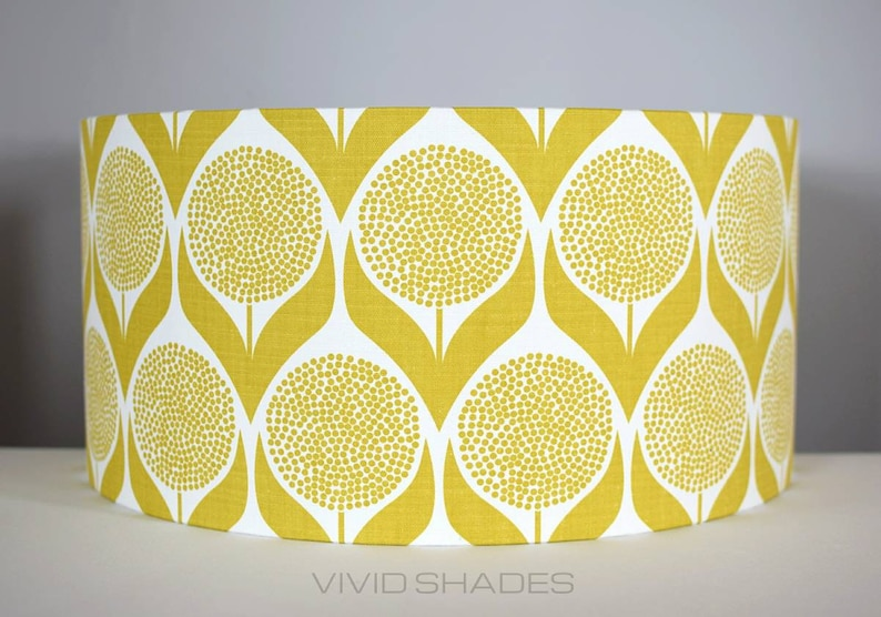 My Name Is Shade.Lampshade Scandi Fabric Handmade By Vivid Shades Funky Retro Etsy