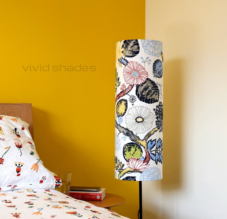 Tall Lampshade With Floor Lamp Base Option Funky Retro Etsy