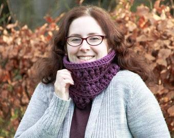 Crochet Cowl, Cowl, Scarf, Crochet Neck Warmer, Crochet Chunky Scarf, Crochet Scarf, Gifts for Women, Gifts for Her, Purple scarf