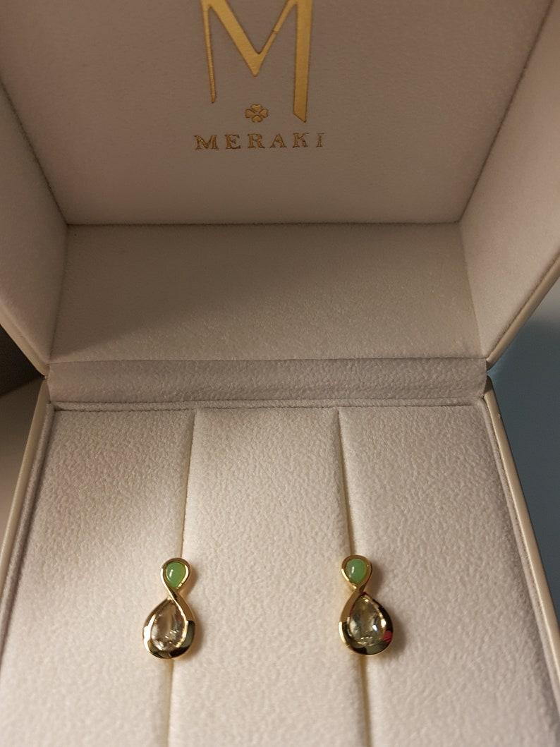 Piccolo Pikorua Fibonacci Earring by MERAKI Jewellery Singapore