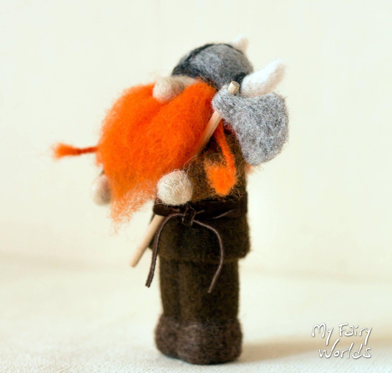 Needle Felted Viking  Icelandic Art  Viking Doll  Gift For