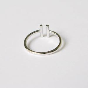 Purple Jade Ring silver JewelryJade Stonesterling Silver Ringdouble Ring US Size 9.5Stacking RingUnique Stonepurple