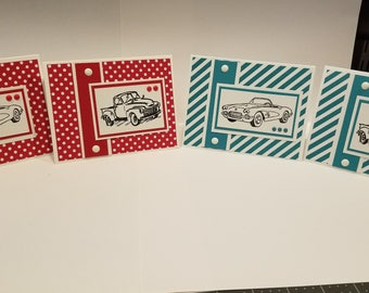 Classic Car Blank Note Cards