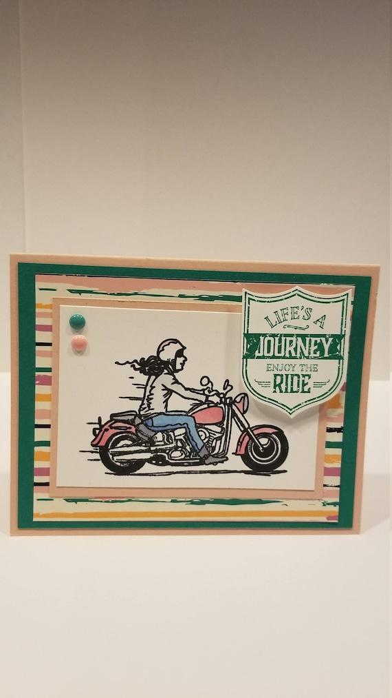 Biker Chick Birthday Card Etsy