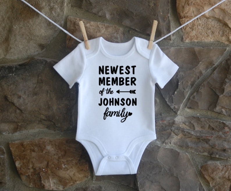 Baby Onesie Personalized Baby Onesie Personalized Last name Newest member of the family Coming Home Outfit
