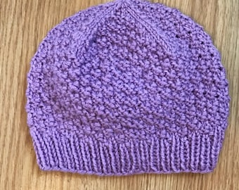 Berry knitted toddler cap