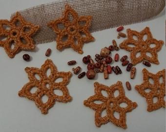 Crochet Christmas stars set of 6