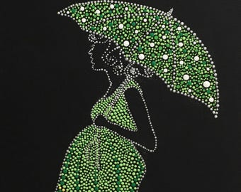 Use coupon code SAVE50 - Acrylic Dot Painting of Pregnant Mother Canvas Wall Art