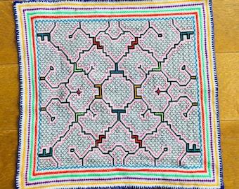 Shipibo Canvas Mesa Icarus of Ayahuasca 45 x 45 CM